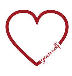 Love yourself vector image
