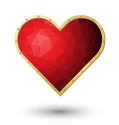 Red heart jewel vector