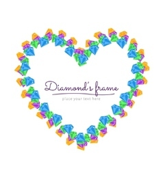 Diamond Frame vector image