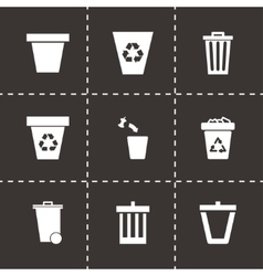 Trash can icon set vector