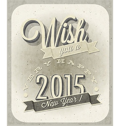 New years 2015 design vector image