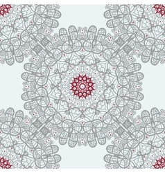 Mandala tile seamless print symmetry pattern vector