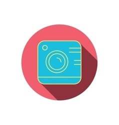 Vintage photo camera icon photography sign vector