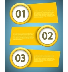 banners element design vector image vector image