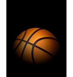 Basketball on Dark Shadowed Background vector image vector image