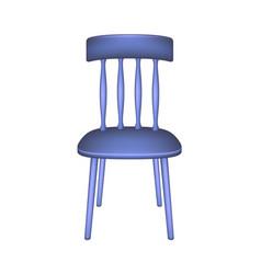 Blue chair in retro design vector