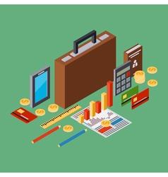 Business portfolio report business plan concept vector image vector image