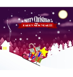 Cartoon christmas background vector image vector image