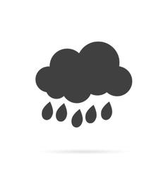 Cloud and Rain Grey Icon vector image vector image