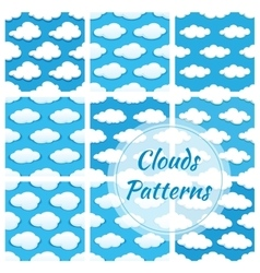 Clouds seamless patterns vector