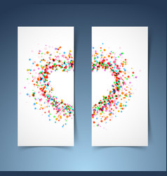 colorful bright heart symbol headers set vector image vector image