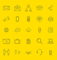 Communication thin line icons vector