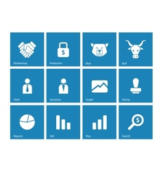 Finance icons on background vector image