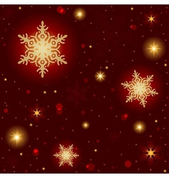 Fire Snowflakes Pattern vector image