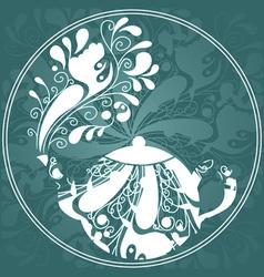 Floral tea vector