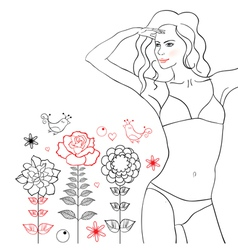 floral woman vector image vector image