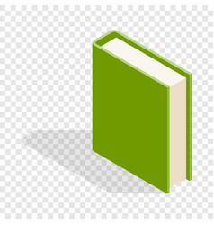 green book isometric icon vector image