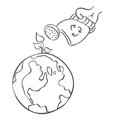 Hand draw world doodle sytle vector