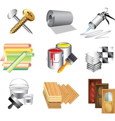 icons buildingmaket vector image