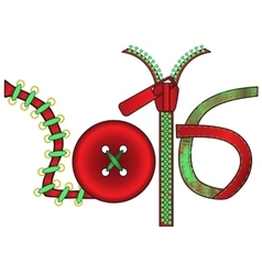 New year in the form of subjects for handwork vector image