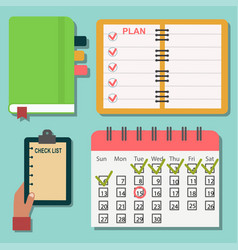 Notebook agenda business note plan work vector