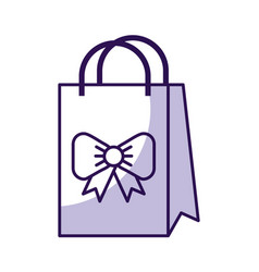shadow cute gift bag cartoon vector image