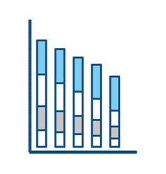 statistics bars graphic vector image vector image