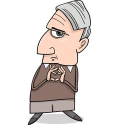 Thinking man cartoon vector
