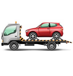Towing truck vector