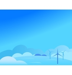 Wallpaper Landscape with Windmill in Winter vector image vector image
