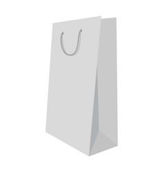 white shopping bag mockup realistic style vector image