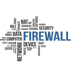 word cloud firewall vector image