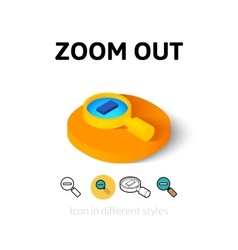 Zoom out icon in different style vector