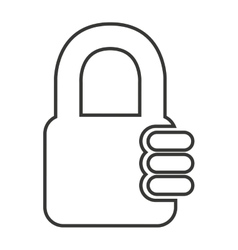 safe secure padlock security isolated icon vector image