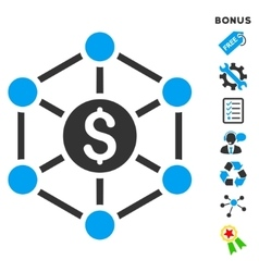 Financial radial scheme flat icon with vector