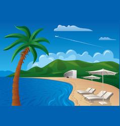 Beach resort journey vector