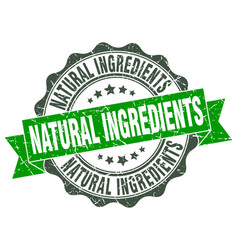 Natural ingredients stamp sign seal vector