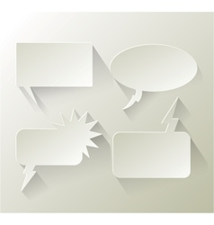 Abstract design speech bubble copyspace vector