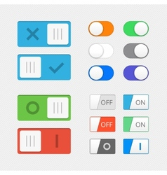 Toggle switch icons vector
