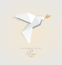 3d origami low polygon dove vector image vector image