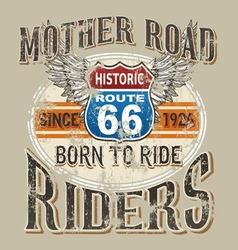 Mother road rider vector