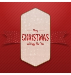 Christmas white big poster with snowflakes vector