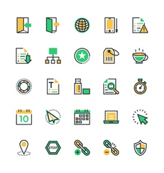 User interface and web colored icons 4 vector