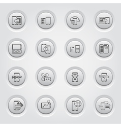 Mobile devices and services icons set vector