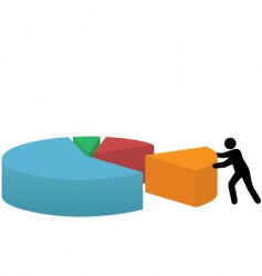 Pie graph vector