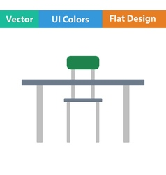 Flat design icon of table and chair vector