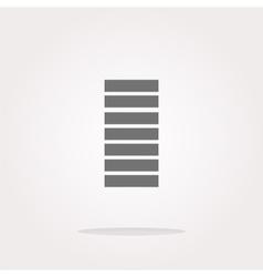 Battery icon web button Web Icon Art vector image