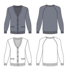Blank cardigan vector
