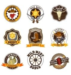 Cowboy Labels Set vector image vector image