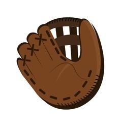 dark brown baseball glove graphic vector image
